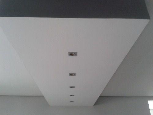 Spot De Embutir Para Gu10 M16 Quadrado Para Gesso E Sanca