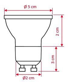 Lâmpada Dicroica Gu10 20 Led 1,2 W 220v Ourolux