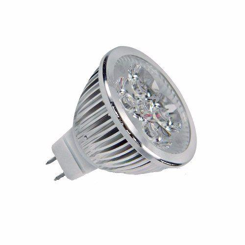 Lâmpada De Led Dicróica Mr16 Gu4 4w Bivolt Branco Quente