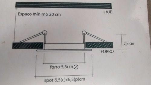 Spot Direcionável Lâmpada Led Mr11 P/ Teto Sanca Gesso