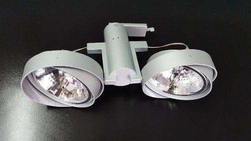 Spot Para Trilho 2 Lâmpadas Ar111 Direcionáveis Bronzearte