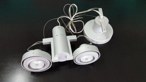 Luminária Plafon Pendente 2 Lâmpadas Mr16 Direcionável Llum