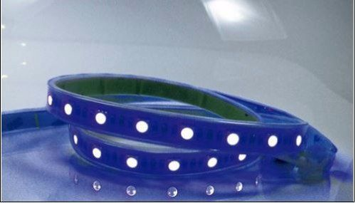 Kit Fita De Led Azul Com Fonte Bivolt Llum Brozearte - Prime