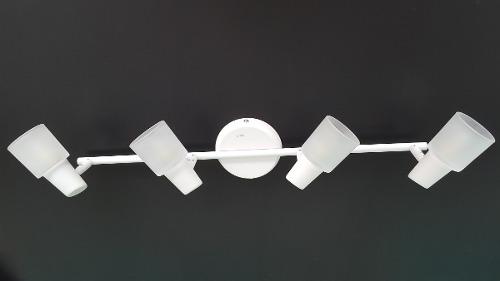 Luminária Trilho Sobrepor 4 Luzes G9 De Led Llum Bronzearte
