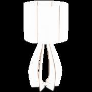 Abajur madeira branca policarbonato branco diam. 225 mm. 1 X 40W E27