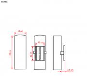 Arandela Bambu 1/2 cilindro 1xE27