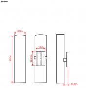 Arandela Bambu 1/2 cilindro 2xE27
