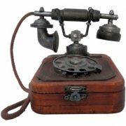 CAIXA MINI TELEFONE RETRO 13X16 CM