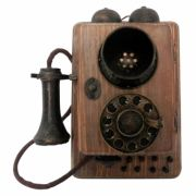 CAIXA MINI TELEFONE RETRO 19X17 CM