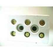 Conector Porcelana Emenda Fio Chuveiro 3 polo 16mm Brasfort