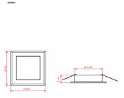 Embutido Solution Square Led 20W 127V 6400K 16X16cm