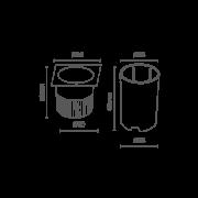 Embutido de Solo Inox Quadrado 4.5W Bivolt RomaLux