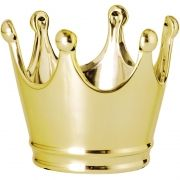 Kit Pote Coroa Dourado em Cerâmica 3 PCS