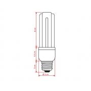 LAMPAMPADA fluorescente 3U 15W 127V 6400K BRANCO FRIO