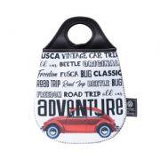 LIXEIRA CARRO NEOPRENE VW FUSCA ADVENTURE FD BRANCO 20X0.02X29CM