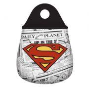 LIXEIRA CARRO NEOPRENE WB DC OR SUPERMAN LOGO VERMELHO/AMARELO 20X0,02X29CM