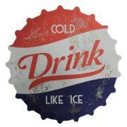 LUGAR AMERICANO PLASTICO CAP SODA COLD DRINK AZUL/VERMELHO 38 X 38 X 0,01 CM