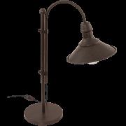 Luminária de mesa aço marrom envelhecido bege 1 X 40W E27