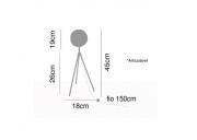 Luminária de mesa Tripé Foco preta metal 45X18 Premier