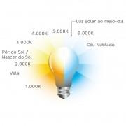 Luminária Led Quadrada Eco Spot Direcionável 5W Biv 3000K