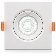 Luminária Led Quadrada Eco Spot Direcionável 5W Biv 6500K