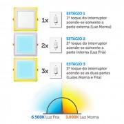 Luminária Quadrada Sobrepor Downlight Led 3 Estágios 12W+6W