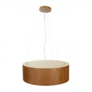 Pendente de Madeira Wood Redondo 30 cm - 2 luz E27