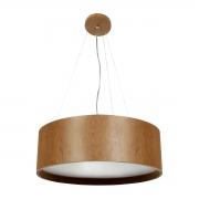 Pendente de Madeira Wood Redondo 90 cm - 6 luzes E27