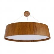 Pendente Lustre Madeira Oval 72cm 4 lâmpadas - Imbuia