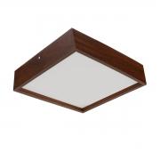Pendente Madeira Wood Quadrado 25 x 25 cm - 2 luzes E27