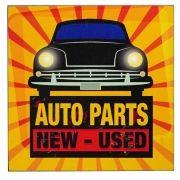 Placa Decorativa em Madeira Auto Parts