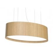 Plafon de Madeira Wood Oval 75 x 30 cm - 4 luzes E27