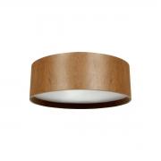 Plafon de Madeira Wood Redondo 25cm - 2 luzes E27