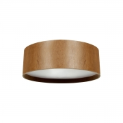 Plafon de Madeira Wood Redondo 80 cm - 6 luzes E27
