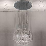 Plafon Em Aço/Cristal 60Cm 127V 11Xg4 - Cromado   Transparente