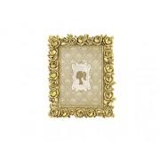 Porta-Retrato Antique Dourado em Poliresina - 13x18