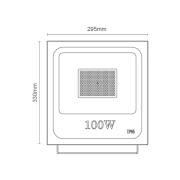 Projetor de LED 100W Bivolt RomaLux