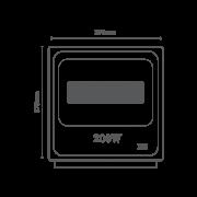 Projetor de LED 200W Bivolt RomaLux