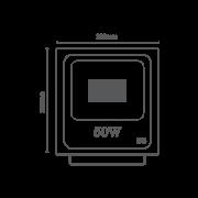 Projetor de LED 50W Bivolt RomaLux