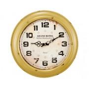 Relógio de Parede Amarelo