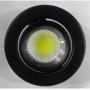 SPOT DE EMBUTIR PRETO COM LED 4,5w