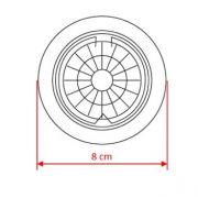 Spot de Embutir Redondo Fixo Aço escovado 50w 127v Com lâmpada LLUM BRONZEARTE