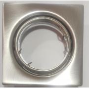 Spot embutir quadrado Aço escovado para dicroica GU10 7w LED
