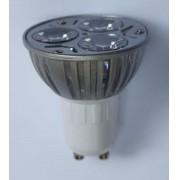 Spot Embutir redondo Aço Escovado com LED 3w