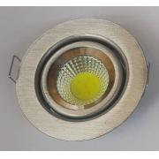 Spot Embutir redondo Aço Escovado com LED 4,8w
