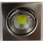 Spot Fixo Embutir Quadrado Aço escovado LED 4,5w