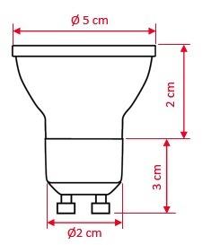 lâmpada Dicróica De Led Gu10 1 w Branco 3000k