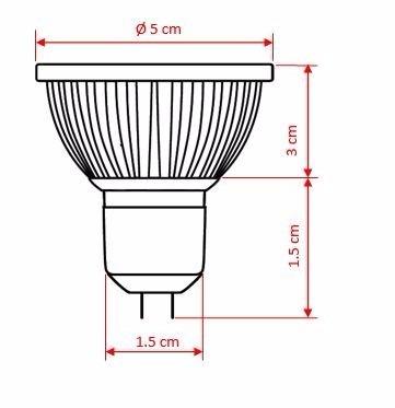Lâmpada Power Led Dicróica Mr16 Gu5.3 7w 12v Llum Bronzearte