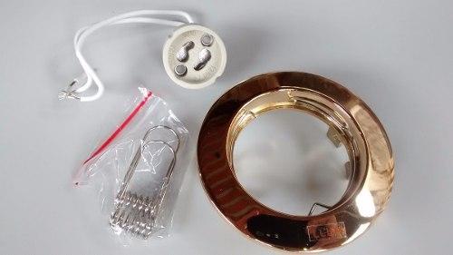 Kit Spot Ouro Llum Lâmpada De Led Gu10 5w Branco Quente