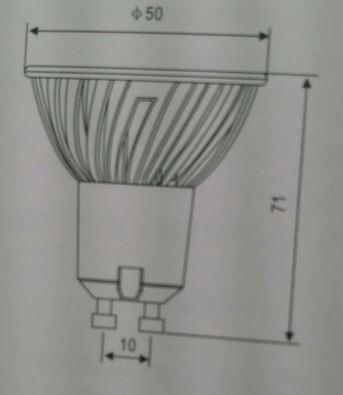 10 Lâmpada Spot Led Dicroica Branco Quente ou Frio 3w E27 Bivolt Super